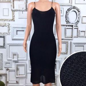 Ralph Ralph Lauren Black Hand Knit Dress Medium